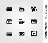 technology vector icons set.... | Shutterstock .eps vector #793419982