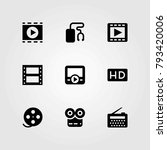 technology vector icons set.... | Shutterstock .eps vector #793420006