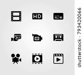 technology vector icons set.... | Shutterstock .eps vector #793420066