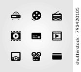 technology vector icons set.... | Shutterstock .eps vector #793420105