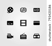 technology vector icons set. hd ... | Shutterstock .eps vector #793420186