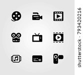 technology vector icons set.... | Shutterstock .eps vector #793420216