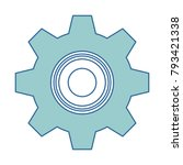 gears machine isolated icon   Shutterstock .eps vector #793421338