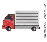 delivery truck isolated icon | Shutterstock .eps vector #793421362