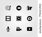 multimedia vector icons set.... | Shutterstock .eps vector #793421902