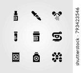 medical vector icons set. pills ...   Shutterstock .eps vector #793423546
