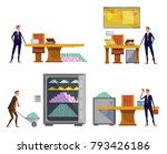 set of compositions with... | Shutterstock . vector #793426186