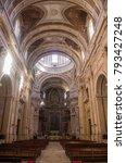 main nave of mafra monastery in ... | Shutterstock . vector #793427248