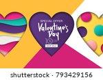 happy valentines day sale... | Shutterstock .eps vector #793429156