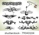 series set of tattoo flash... | Shutterstock . vector #79343104