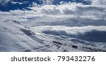 beautiful winter landscape ... | Shutterstock . vector #793432276