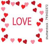 happy valentine's day heart... | Shutterstock .eps vector #793432372