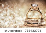 glitter background with wedding ... | Shutterstock . vector #793433776