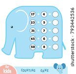 counting game for preschool... | Shutterstock .eps vector #793442536