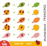 counting game for preschool... | Shutterstock .eps vector #793442902