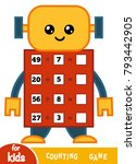 counting game for preschool... | Shutterstock .eps vector #793442905
