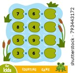 counting game for preschool... | Shutterstock .eps vector #793443172
