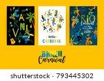 brazil carnival. vector... | Shutterstock .eps vector #793445302