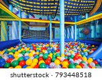 modern children playground... | Shutterstock . vector #793448518