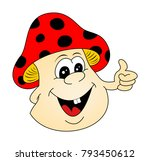 mushroom  toadstool as funny... | Shutterstock .eps vector #793450612