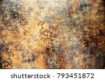 shiny rusty steel background | Shutterstock . vector #793451872