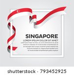 singapore flag background | Shutterstock .eps vector #793452925