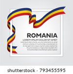 romania flag background | Shutterstock .eps vector #793455595