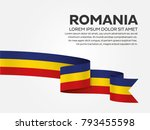 romania flag background | Shutterstock .eps vector #793455598