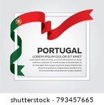 portugal flag background | Shutterstock .eps vector #793457665