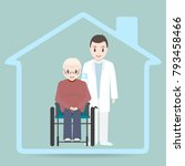 nursing home sign icon  doctor...   Shutterstock .eps vector #793458466
