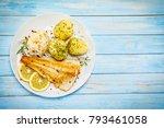 fish dish   fried fish fillet... | Shutterstock . vector #793461058