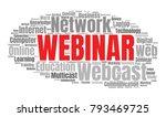 webinar or web conference word... | Shutterstock .eps vector #793469725