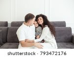 young happy family  parenthood... | Shutterstock . vector #793472176