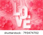 3d abstract paper cut... | Shutterstock .eps vector #793474702