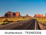 empty scenic highway in...