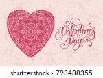 decorative valentine greeting...   Shutterstock .eps vector #793488355