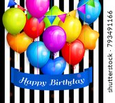 bunch of colorful birthday... | Shutterstock .eps vector #793491166