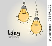 light bulbs hanging from the... | Shutterstock .eps vector #793491172