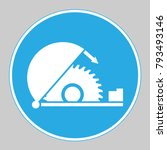 use table saw adjustable guard...   Shutterstock .eps vector #793493146