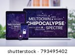 chipocalypse concept with... | Shutterstock . vector #793495402