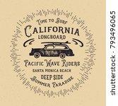 california typography. t shirt... | Shutterstock .eps vector #793496065