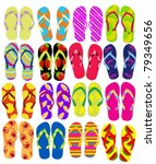 flip flops | Shutterstock .eps vector #79349656