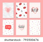 Set Of 6 Cards For Valentine's...