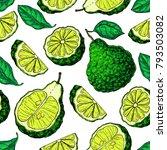 bergamot vector seamless... | Shutterstock .eps vector #793503082