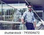 one handsome elegant young man...   Shutterstock . vector #793504672