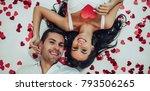 top view of beautiful romantic...   Shutterstock . vector #793506265
