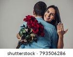 beautiful romantic couple in... | Shutterstock . vector #793506286