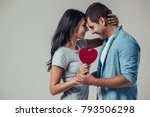 beautiful romantic couple... | Shutterstock . vector #793506298