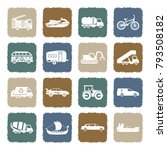 transport and vehicles icons.... | Shutterstock .eps vector #793508182