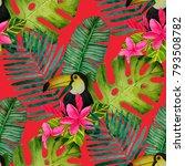 beautiful seamless floral...   Shutterstock . vector #793508782